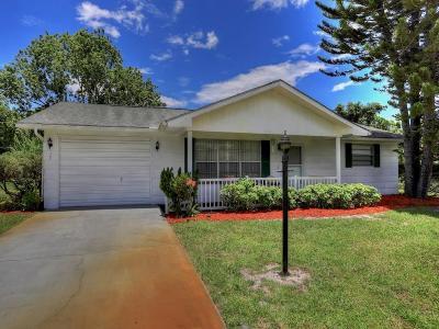 Sebastian FL Single Family Home For Sale: $159,900