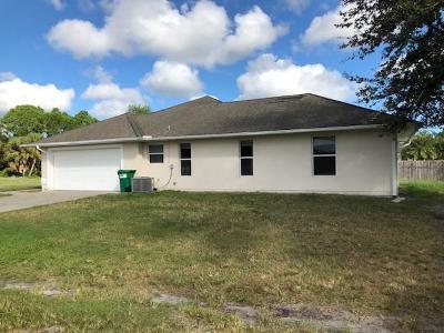 Sebastian Single Family Home For Sale: 1352 Laconia Street