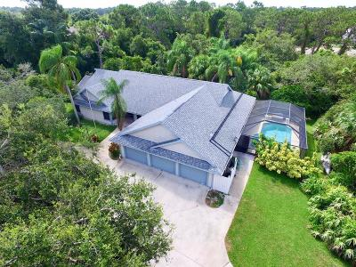 Sebastian Single Family Home For Sale: 629 Fischer Hammock Road