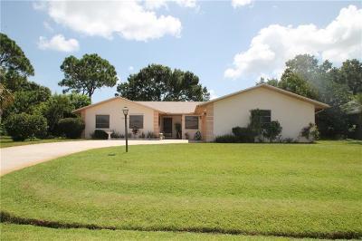 Sebastian FL Single Family Home For Sale: $225,000