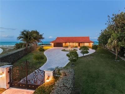 Vero Beach, Indian River Shores, Melbourne Beach, Sebastian, Palm Bay, Orchid Island, Micco, Indialantic, Satellite Beach Single Family Home For Sale: 3766 Ocean Drive