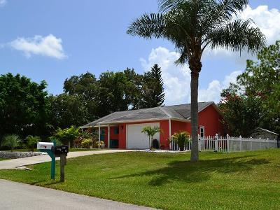 Sebastian Single Family Home For Sale: 825 Floraland Avenue