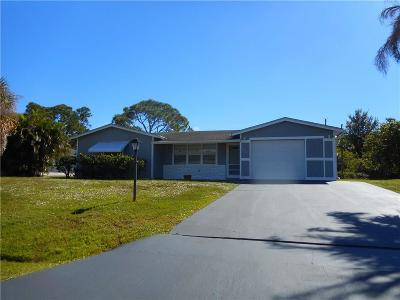 Sebastian FL Single Family Home For Sale: $162,500