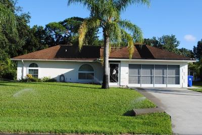 Sebastian FL Single Family Home For Sale: $235,000