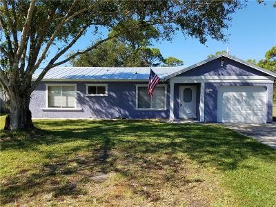 Sebastian Single Family Home For Sale: 141 Caprona Street