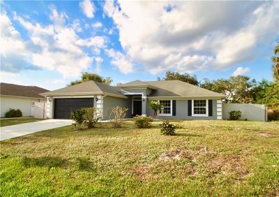 Sebastian FL Single Family Home For Sale: $248,900