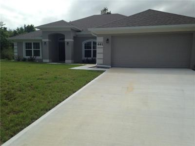 Sebastian Single Family Home For Sale: 1079 Topsail Lane