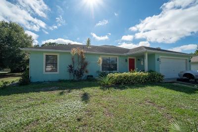 Sebastian Single Family Home For Sale: 147 Englar Drive