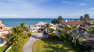 Vero Beach, Indian River Shores, Melbourne Beach, Melbourne, Sebastian, Palm Bay, Orchid Island, Micco, Indialantic, Satellite Beach Single Family Home For Sale: 10890 Highway A1a
