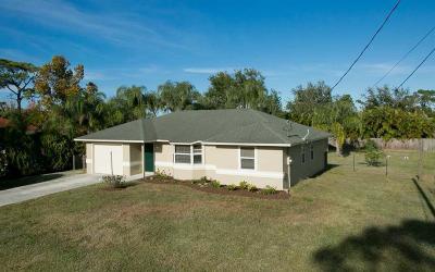 Sebastian FL Single Family Home For Sale: $214,000
