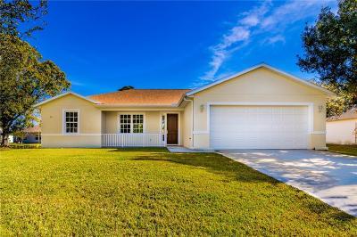 Sebastian FL Single Family Home For Sale: $260,000