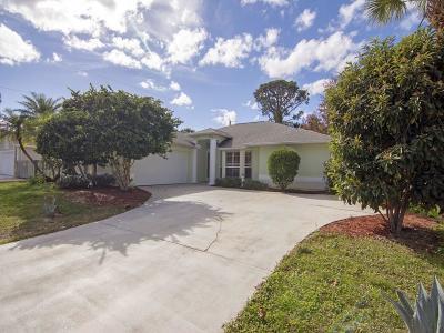 Sebastian Single Family Home For Sale: 1481 Abbott Lane