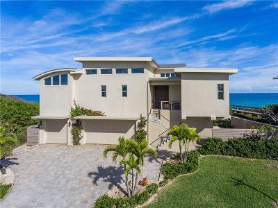 Vero Beach, Indian River Shores, Melbourne Beach, Sebastian, Palm Bay, Orchid Island, Micco, Indialantic, Satellite Beach Single Family Home For Sale: 7829 Highway A1a