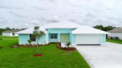 Fort Pierce Single Family Home For Sale: 0000 Thumb Point Drive
