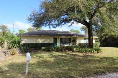 Vero Beach Single Family Home For Sale: 3610 3rd Place