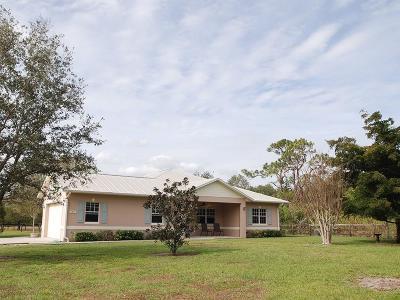 Vero Beach Single Family Home For Sale: 6855 82nd Avenue