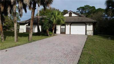 Fort Pierce Single Family Home For Sale: 5806 Seminole Road Road #5