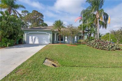 Sebastian Single Family Home For Sale: 1631 Barber Street