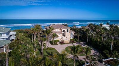 Vero Beach, Indian River Shores, Melbourne Beach, Melbourne, Sebastian, Palm Bay, Orchid Island, Micco, Indialantic, Satellite Beach Single Family Home For Sale: 12440 Highway A1a
