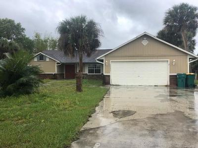 Micco Single Family Home For Sale: 9899 Riverview Drive