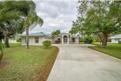 Micco Single Family Home For Sale: 3792 Renald Place