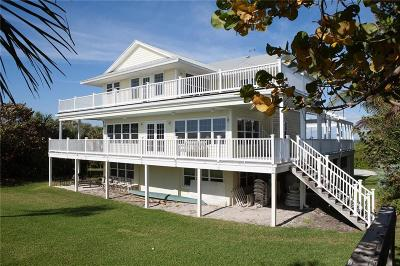 Vero Beach, Indian River Shores, Melbourne Beach, Sebastian, Palm Bay, Orchid Island, Micco, Indialantic, Satellite Beach Single Family Home For Sale: 12376 Highway A1a