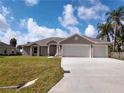 Sebastian Single Family Home For Sale: 814 George Street