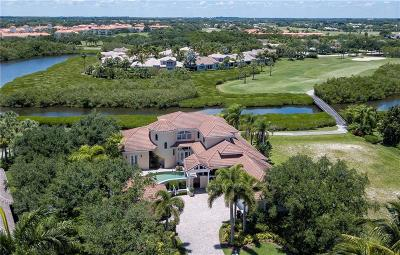 Vero Beach, Indian River Shores, Melbourne Beach, Sebastian, Palm Bay, Orchid Island, Micco, Indialantic, Satellite Beach Single Family Home For Sale: 5115 Saint Andrews Island Drive