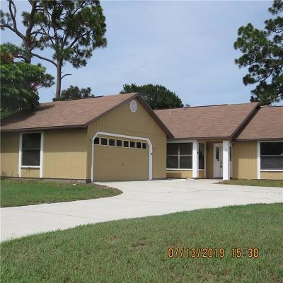 Sebastian Single Family Home For Sale: 110 Cardinal Drive
