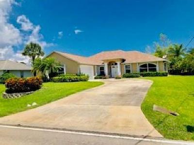 Sebastian Single Family Home For Sale: 1828 Barber Street