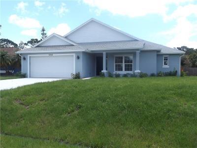 Sebastian Single Family Home For Sale: 1368 Scroll Street
