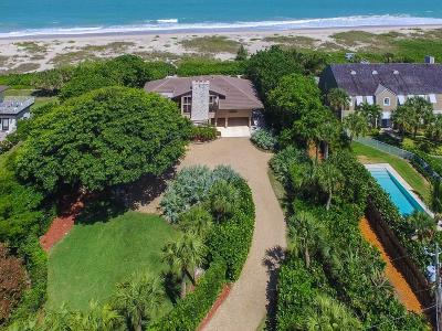 Vero Beach, Indian River Shores, Melbourne Beach, Melbourne, Sebastian, Palm Bay, Orchid Island, Micco, Indialantic, Satellite Beach Single Family Home For Sale: 2285 Sea Turtle Lane