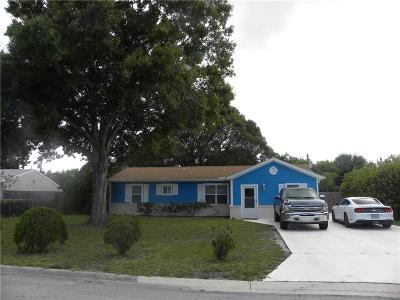 Vero Beach FL Single Family Home For Sale: $149,495