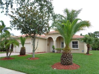 Fort Pierce Single Family Home For Sale: 5422 Place Lake Drive