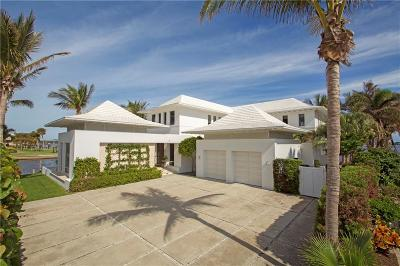 Vero Beach, Indian River Shores, Melbourne Beach, Sebastian, Palm Bay, Orchid Island, Micco, Indialantic, Satellite Beach Single Family Home For Sale: 2 Dolphin Drive