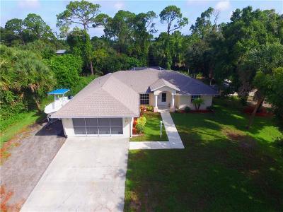 Sebastian Single Family Home For Sale: 631 Bayfront Terrace