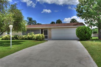 Sebastian Single Family Home For Sale: 494 Coply Terrace