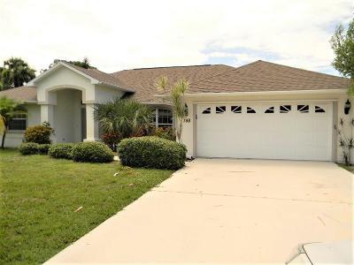 Sebastian FL Single Family Home For Sale: $299,500