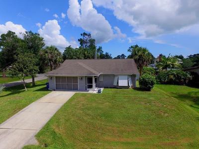 Sebastian FL Single Family Home For Sale: $174,000