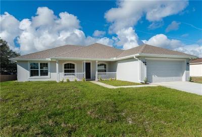 Sebastian Single Family Home For Sale: 761 Periwinkle Drive