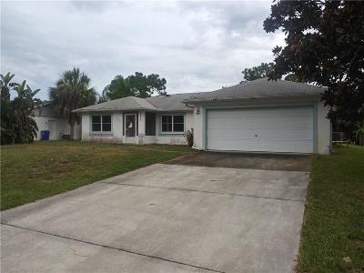 Sebastian Single Family Home For Sale: 625 Ellingsen Avenue