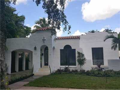Coral Gables Single Family Home Active-Available: 829 Milan Avenue