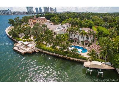 Miami Beach Single Family Home For Sale: 46 Star Island Dr