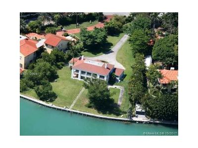 Miami Beach Single Family Home Active-Available: 44 Star Island Dr
