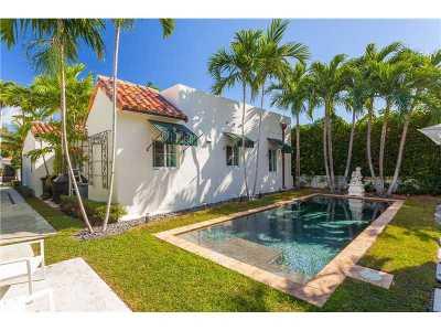 Miami Beach Single Family Home For Sale: 4466 Sheridan Ave