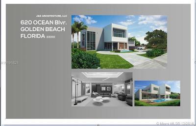 Golden Beach Single Family Home Active-Available: 620 Ocean Blvd