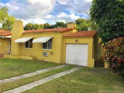 Miami Shores Single Family Home Active-Available: 142 Northeast 103rd St