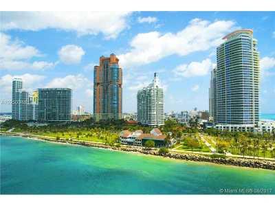 Miami Beach Condo For Sale: 300 S Pointe Dr #909