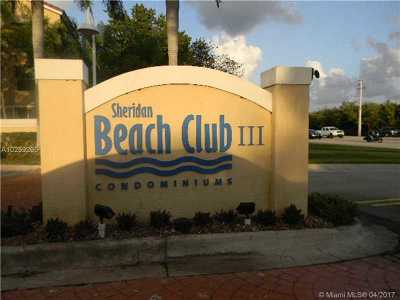 Dania Beach Condo Backup Contract-Call La: 509 East Sheridan St #1023