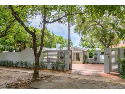 Coconut Grove Single Family Home For Sale: 1608 Tigertail Ave